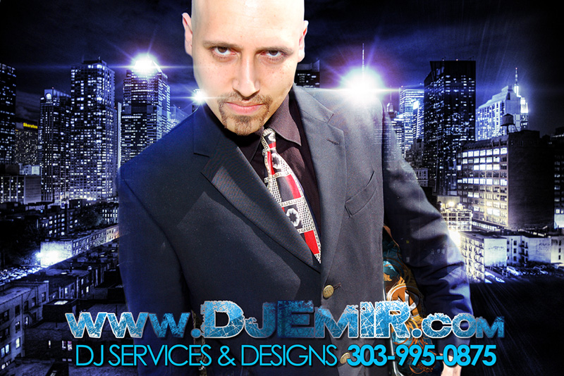 DJ Emir Mixtapes New York City Rooftop Picture in Suit Denver